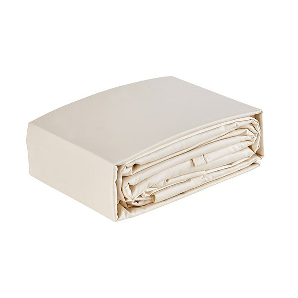 Organic Ivory Cotton Sateen Sheets