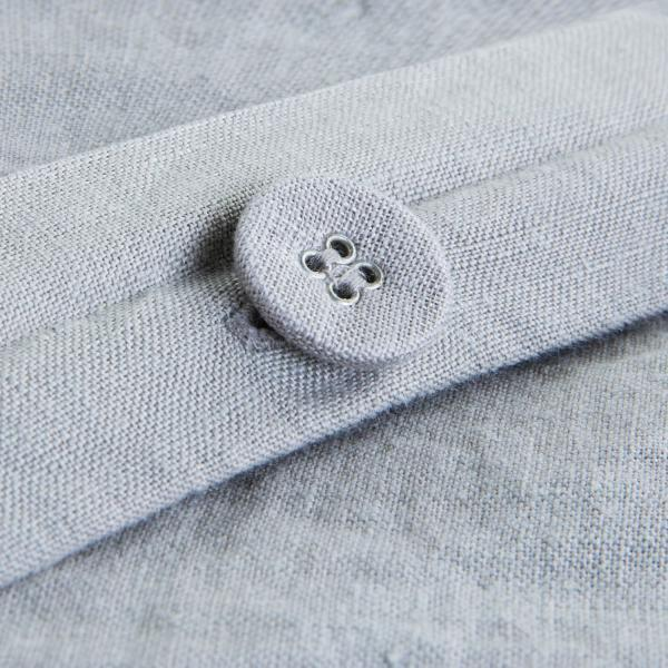 French Linen Duvet Cover Button Close Up